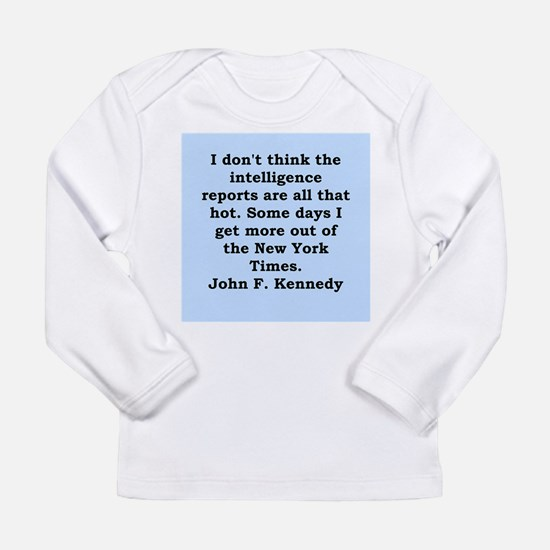 john f kennedy quote Long Sleeve Infant T-Shirt