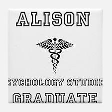 Alison Psych Grad Tile Coaster