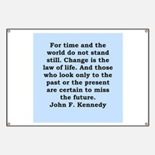 john f kennedy quote Banner