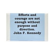 john f kennedy quote Rectangle Magnet (10 pack)