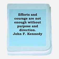 john f kennedy quote baby blanket