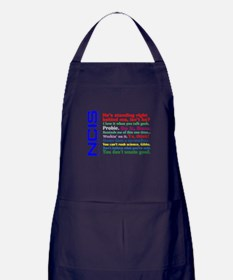 NCIS Quotes Apron (dark)