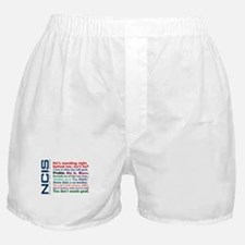 NCIS Quotes Boxer Shorts