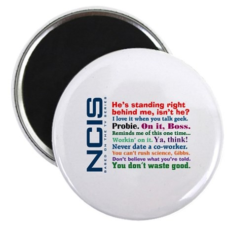 """NCIS Quotes 2.25"""" Magnet (100 pack)"""