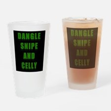 Dangle Snipe and Celly Drinking Glass