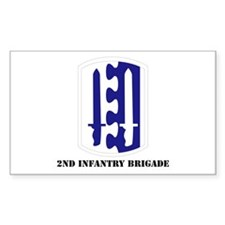 SSI - 2nd Infantry Brigade with Text Decal