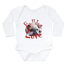 Bulldog Love Long Sleeve Infant Bodysuit