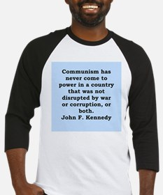 john f kennedy quote Baseball Jersey