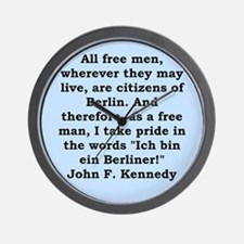 john f kennedy quote Wall Clock