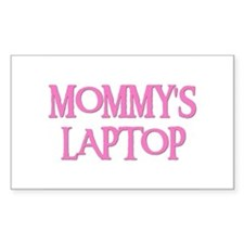 MOMMY'S LAPTOP Rectangle Decal