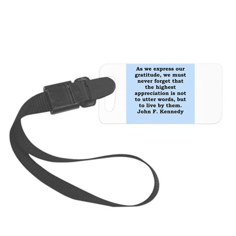 john f kennedy quote Small Luggage Tag