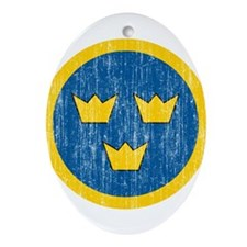 Sweden Roundel Ornament (Oval)