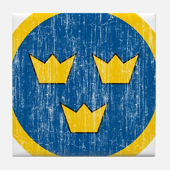Sweden Roundel Tile Coaster