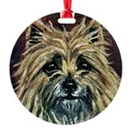 Cairn Terrier Round Ornament