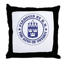 """Pardoned by H.M."" Throw Pillow"