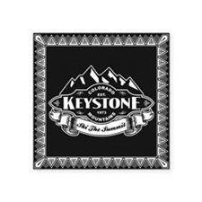 "Keystone Mountain Emblem Square Sticker 3"" x 3"""