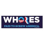 Whores 2012 Sticker (Bumper)