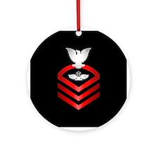Navy Chief Air Traffic Control Ornament (Round)