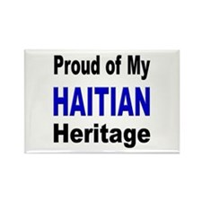 Proud Haitian Heritage Rectangle Magnet
