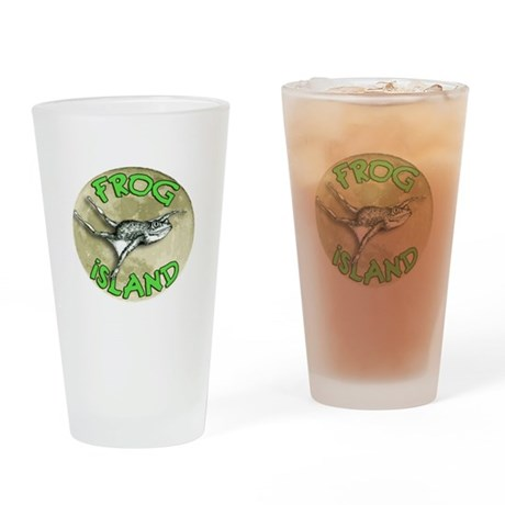 Frog Island Drinking Glass