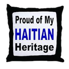 Proud Haitian Heritage Throw Pillow