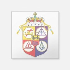 "York Rite Shield Square Sticker 3"" x 3"""