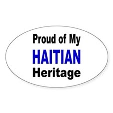 Proud Haitian Heritage Oval Decal
