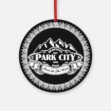 Park City Mountain Emblem Ornament (Round)