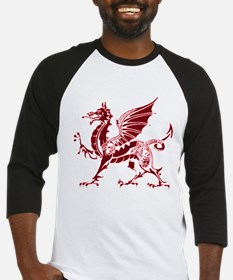 Two tone red and white dragon Baseball Jersey