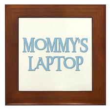 MOMMY'S LAPTOP Framed Tile