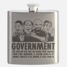 Government Lunatics Flask