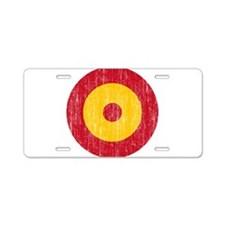 Spain Roundel Aged.png Aluminum License Plate