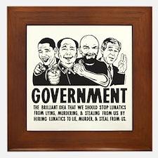 Government Lunatics Framed Tile