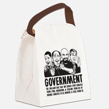 Government Lunatics Canvas Lunch Bag