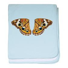 Buckeye Butterfly baby blanket
