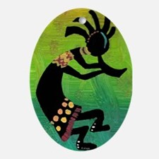 Dancing Kokopelli-3 Ornament (Oval)