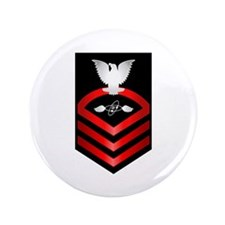 "Navy Chief Aviation Electronics Tech 3.5"" Button"