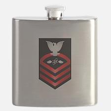 Navy Chief Aviation Electronics Tech Flask