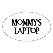 MOMMY'S LAPTOP Oval Decal