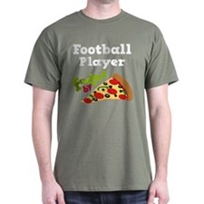 Football Player Pizza T-Shirt