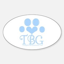 Blue Monogram Logo Oval Decal