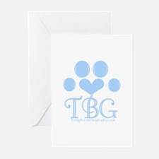 Blue Monogram Logo Greeting Cards (Pk of 10)