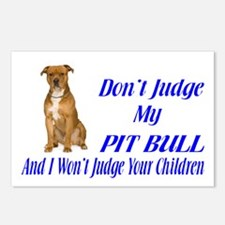 PITBULL JUDGEMENT Postcards (Package of 8)