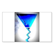 Blue Martini Decal