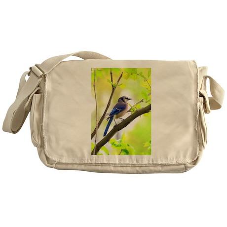 Blue Jay Messenger Bag