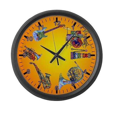 Wild Music Clock Large Wall Clock