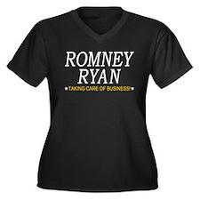 Romney Ryan Taking Care of Business Women's Plus S