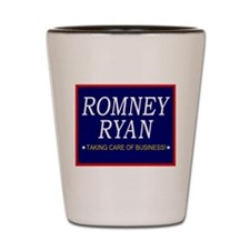 Romney Ryan Taking Care of Business Shot Glass