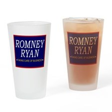 Romney Ryan Taking Care of Business Drinking Glass