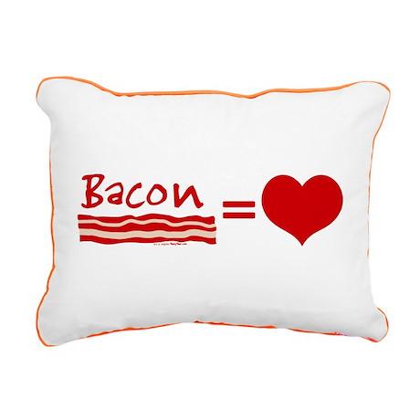 Bacon Equals Love Rectangular Canvas Pillow